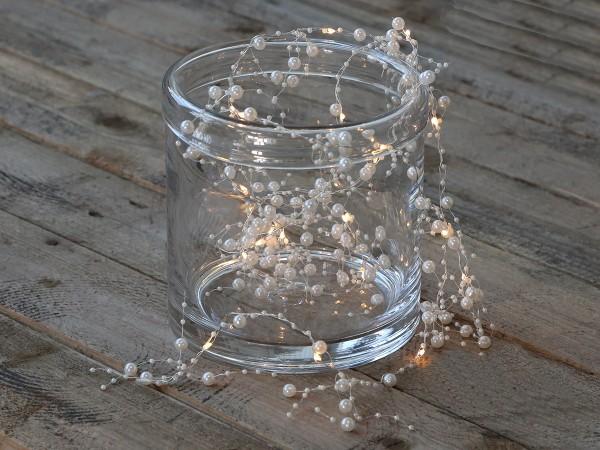 Lichterkette mit Perlen