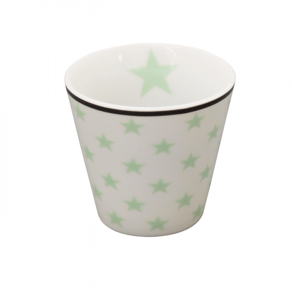 """Happy Espresso """"weiß mit grünen Sternen"""""""