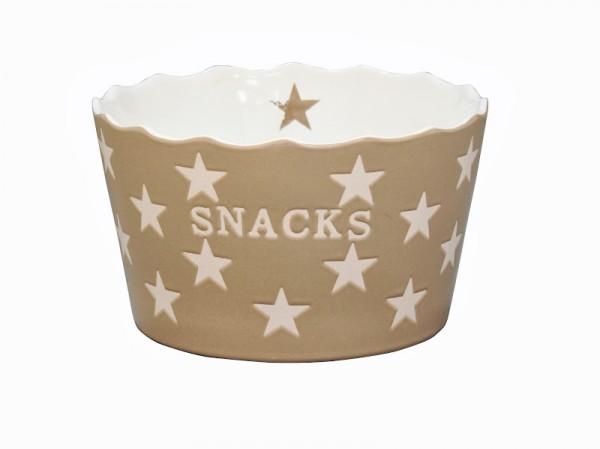 "Happy Stars ""Snacks"" taupe"