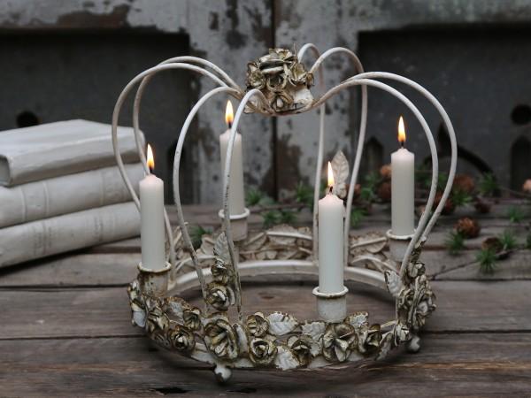 Vintage Königskrone für 4 Kerzen