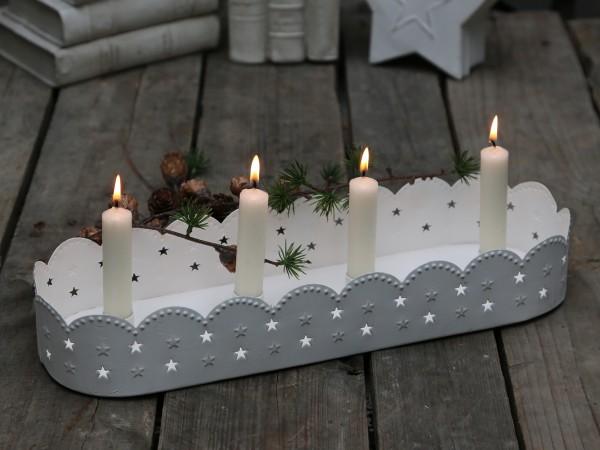 Tablett für 4 Kerzen