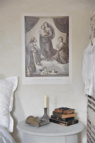 Poster mit Madonna und Kind