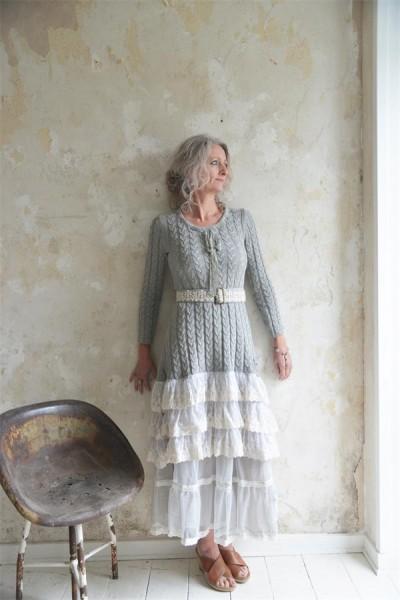 Kleid Delicate Warmth light grey Gr. XS - S