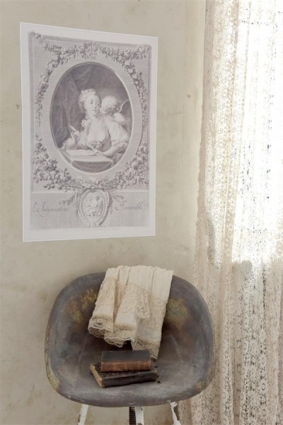 Poster mit zauberhafter Dame & Engel