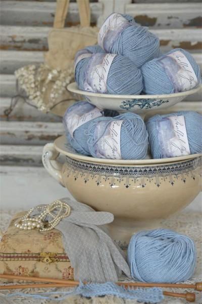 Wool Cotton Blend Light Blue
