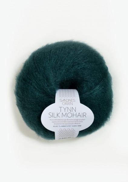 Tynn Silk Mohair Dyp Petrol