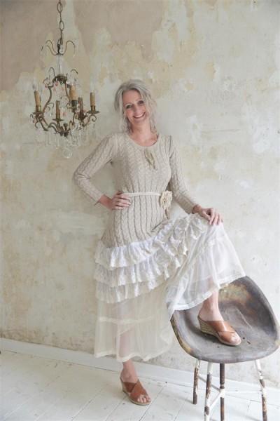 Kleid Delicate Warmth beige Gr. XL - XXL