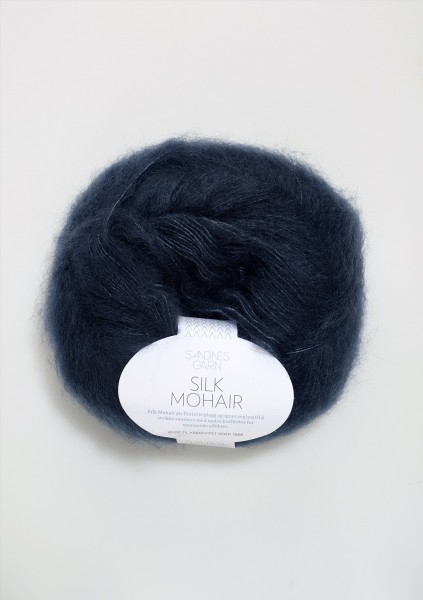 Silk Mohair Tiefblau