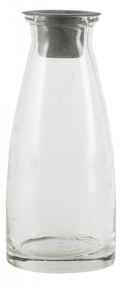 Flasche mit losem Kerzeneinsatz