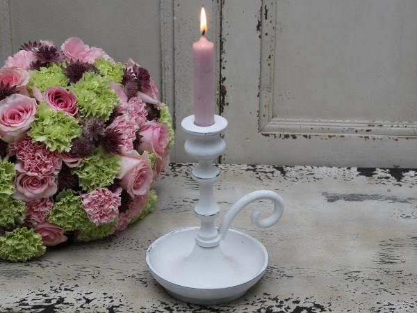 Nostalgischer Kerzenständer antique weiß