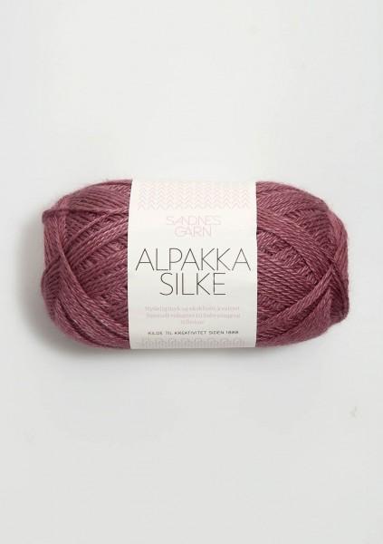 Alpakka Seide Dunkel Altrosa