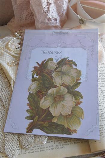 Scrappapier mit tollem Blumenmotiv