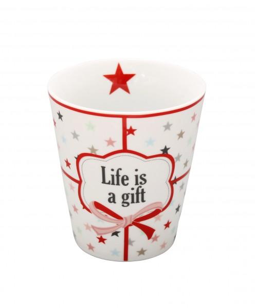 "Happy Mug ""Life is a gift"""