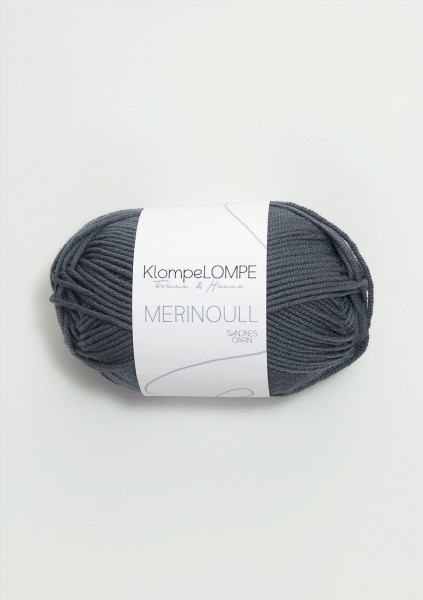 KlompeLOMPE Merinoull Dunkel Graublau