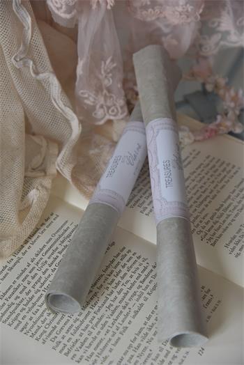 2 Bogen handgeschöpftes Papier dusty green