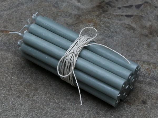 Mini Stabkerzen grau (10St.)