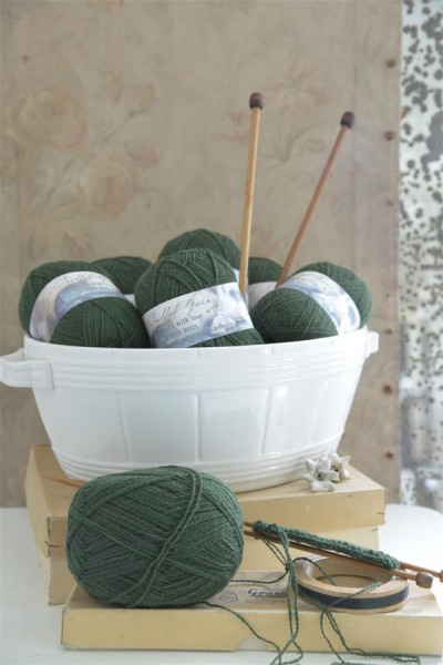 Pure Wool Olive Green