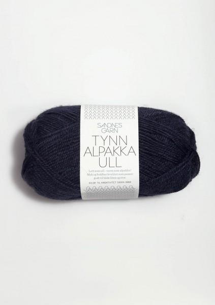 Tynn Alpakka Ull Mitternachtsblau