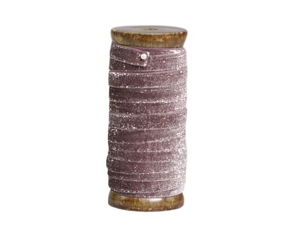 Veloursband mit Glimmer puder