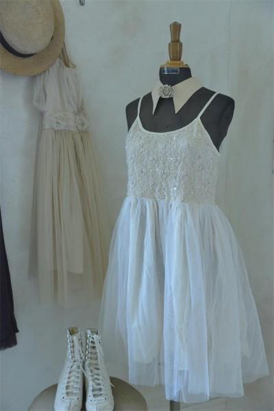 Vintage Kleid tea color