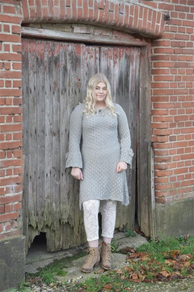 Kleid Forever Lost light grey Gr. M - L