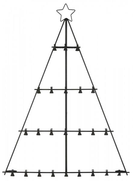 Adventskalender Tannenbaum mit 24 Clips