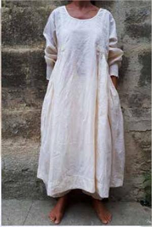 Kleid AGATHE COTON FLEURS ROSE Gr. L