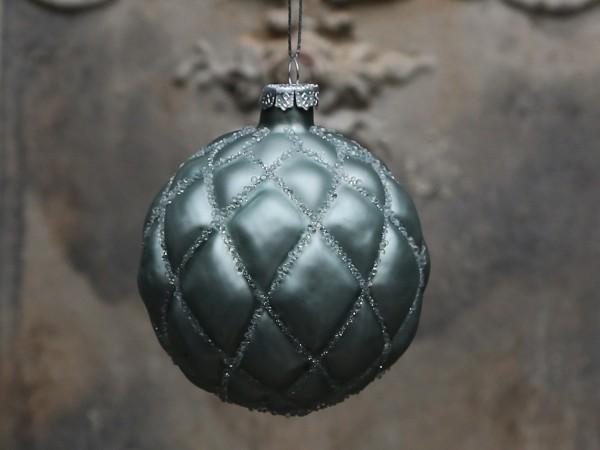 Weihnachtskugel antique verte