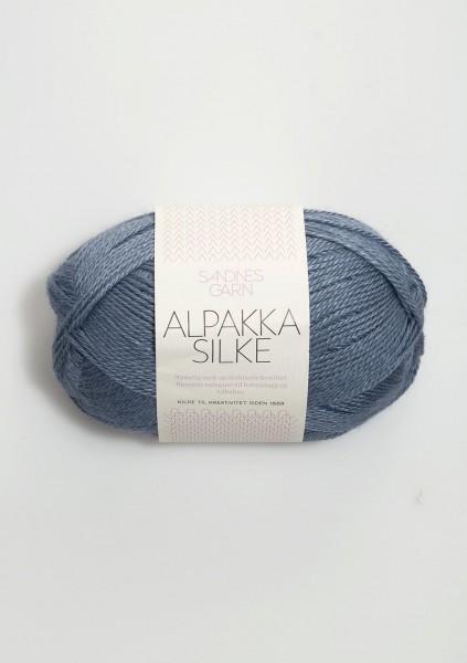 Alpakka Seide Jeansblau