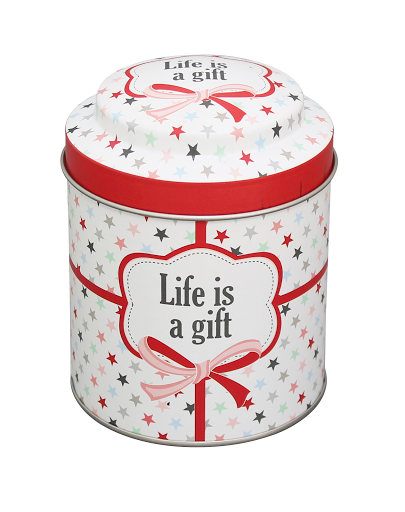 "Vorratsdose ""Life is a gift"""