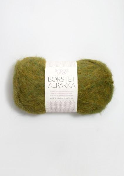 Borstet Alpakka Blattgrün Fb. 9645