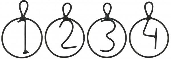 Adventsanhänger Zahlen 1 - 4
