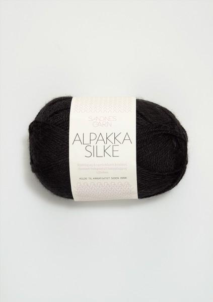 Alpakka Seide Schwarz