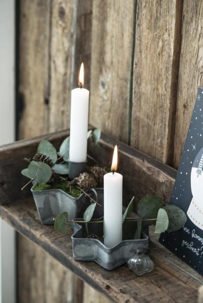 Kerzenhalter Stern für Stumpenkerzen