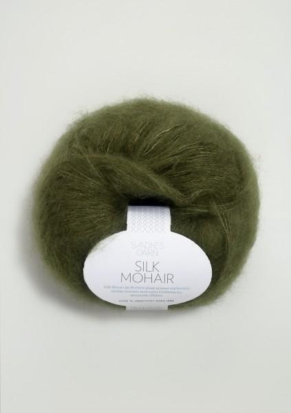 Silk Mohair Moosgrün