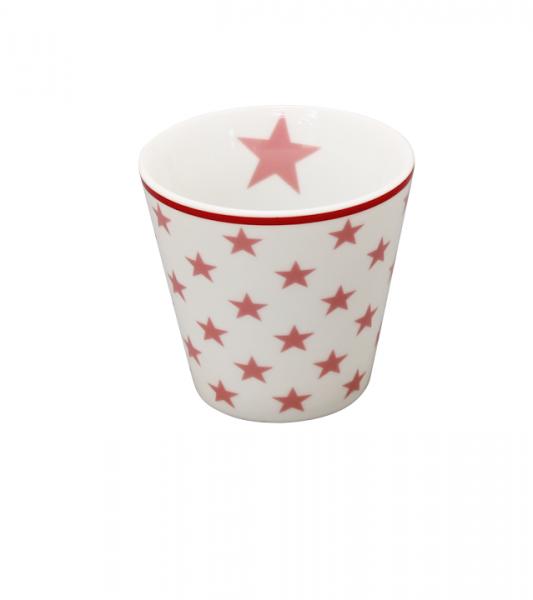"""Happy Espresso """"weiß mit pinken Sternen"""""""