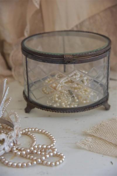 Glasschatulle rund (groß)
