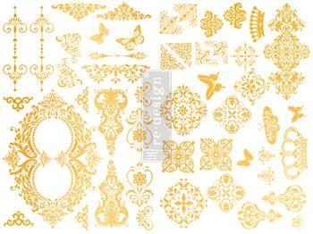 GOLD Transferfolien Gilde Baroque