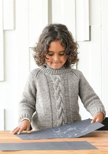 SandnesGarn Babys & Kinder Pullover mit Zopfmuster