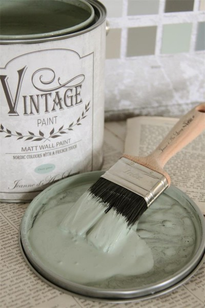 Vintage Paint Wandfarbe Dusty Green