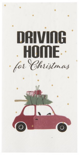 Serviette Driving home for Christmas
