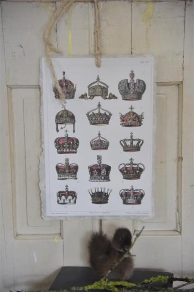 große Karte mit royalen Kronen