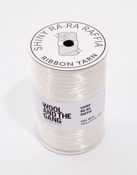Shiny Ra-Ra Raffia Shell White