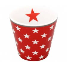 """Happy Espresso """"rot mit Sternen"""""""