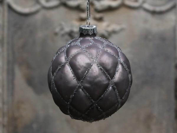 Weihnachtskugel antique mocca