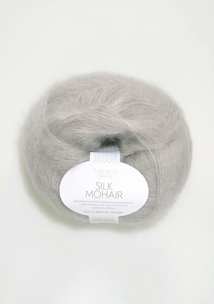 Silk Mohair Hellgrau
