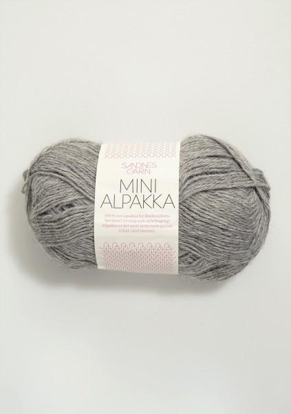 Mini Alpakka Graumeliert