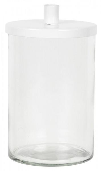 Glashalter für dünne Kerzen + Metalldeckel