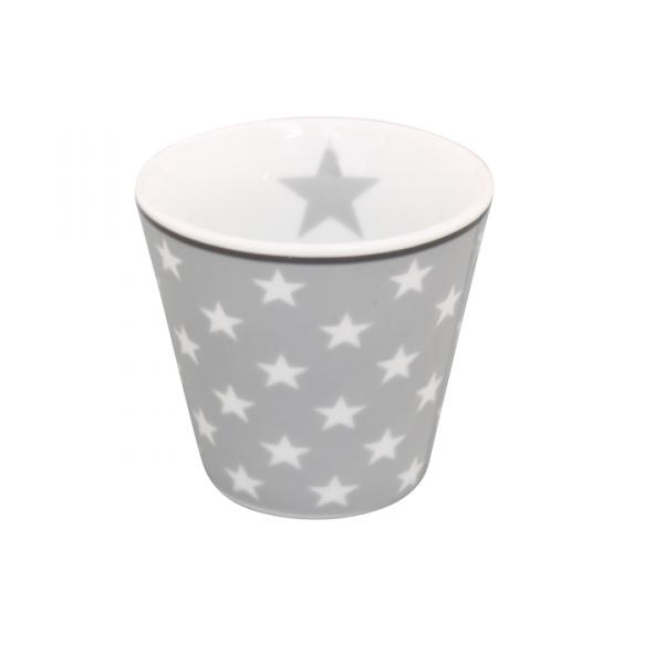 """Happy Espresso """"hellgrau mit weißen Sternen"""""""