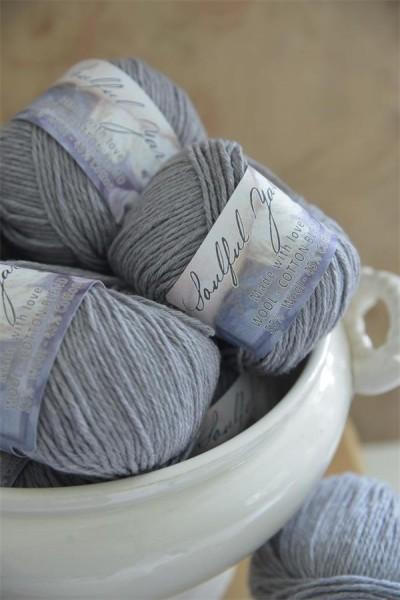 Wool Cotton Blend Silver Grey
